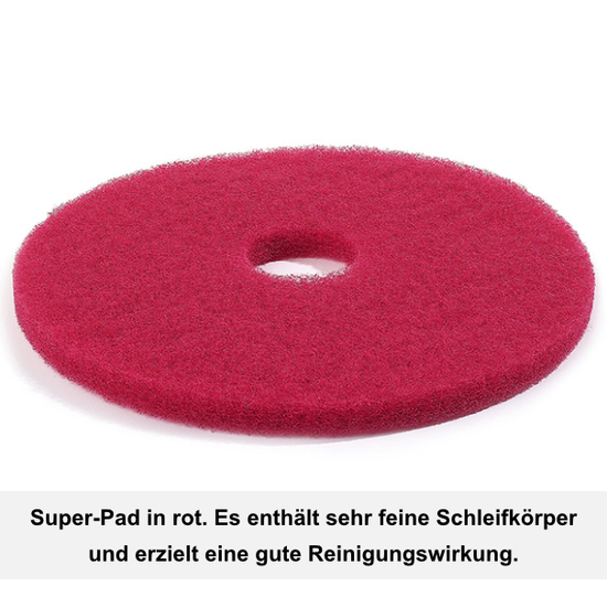 Floormagic Superpad 152mm 6 in rot