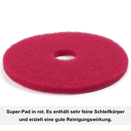 "Floormagic Superpad 381mm 15"" in rot"
