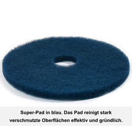 "Floormagic Superpad 381mm 15"" in blau"