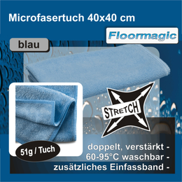 Floormagic Microfasertücher Stretch 40x40cm, blau