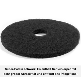 Floormagic Superpad 432mm 17 Zoll in schwarz
