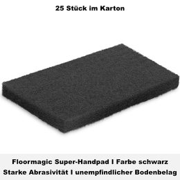 Floormagic Super-Handpad 115x250x25mm in schwarz
