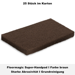 Floormagic Super-Handpad 115x250x25mm in braun
