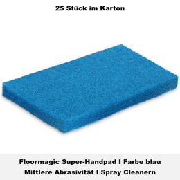 Floormagic Super-Handpad 115x250x25mm in blau