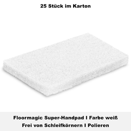 Floormagic Super-Handpad 115x250x25mm in weiß