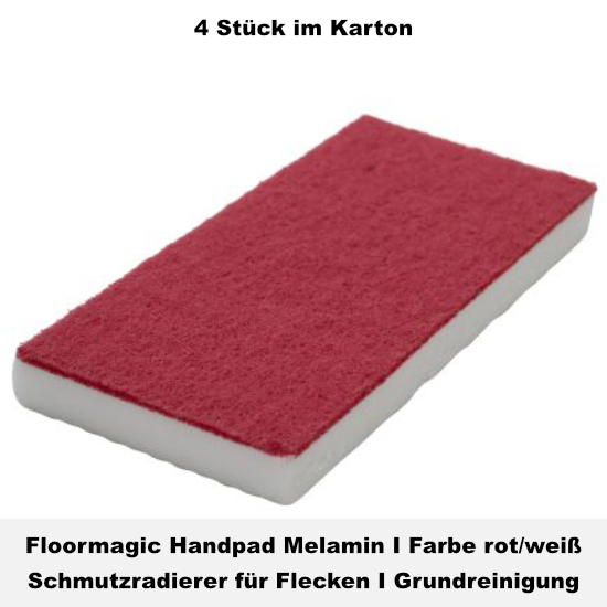 Floormagic Handpad Melamin 115x250x24mm in weiß/blau