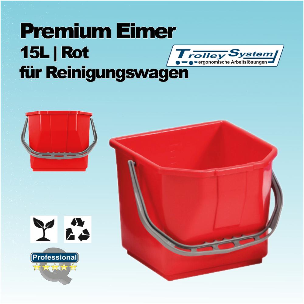premium eimer 15 liter rot passend f r reinigungswagen. Black Bedroom Furniture Sets. Home Design Ideas